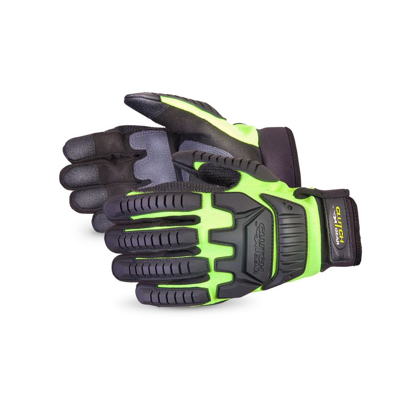 Clutch Gear Impact Protection Mechanics Glove Lined with Punkban - Superior Glove MXVSBPB