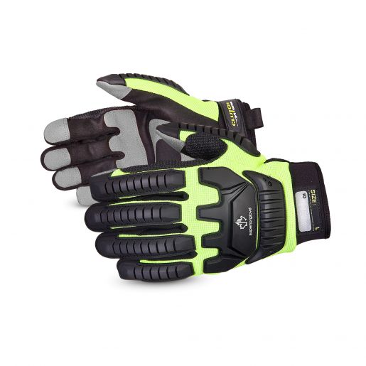 Clutch Gear® Impact Resistant Mechanics Gloves With PVC Palm Patches - MXVSB