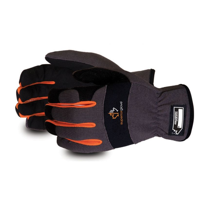 Clutch Gear Synthetic Leather Driver Gloves With Elastic Wrist - Superior Glove MXPLE