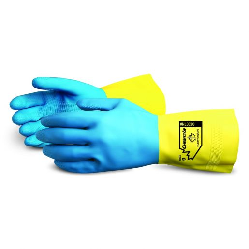Chemstop™ Unsupported Neoprene Over Latex Chemical Resistant Gloves - NL3030