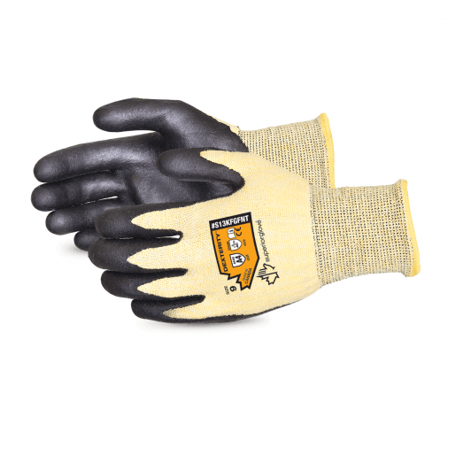 Dexterity® Nitrile Palm-Coated Cut-Resistant String-Knit Glove - S13KFGFNT